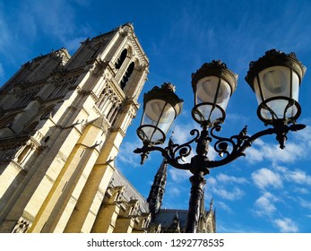 Cathedrale Notre-Dame-de-Paris with a lantern. Paris, France