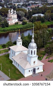 Cathedrals of Vologda, Russia - bird's eye view. Vologda is a city and the administrative, cultural, and scientific center of Vologda Oblast, Russia