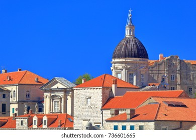 Cathedral-Treasury building above the old town of Dubrovnik, Croatia
