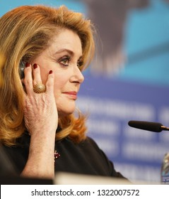 Catherine Deneuve attends the 'Farewell To The Night' press conference during the 69th Berlinale International Film Festival Berlin at Grand Hyatt Hotel on February 12, 2019 in Berlin. Germany