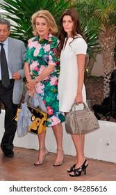 "Catherine Deneuve & Chiara Mastroianni at the photocall for ""Un Conte de Noel"" (""A Christmas Tale"") 61st Annual Cannes Film Festival. 5-16-08 Cannes, France. By: Paul Smith / Featureflash"