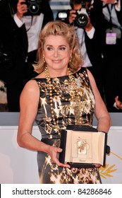 Catherine Deneuve, winner of the Special Prize, at the 61st Annual International Film Festival de Cannes.  May 25, 2008  Cannes, France. Picture: Paul Smith / Featureflash