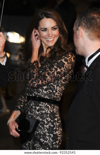 """Catherine, Duchess of Cambridge arriving for the premiere of """"War Horse"""" at the Odeon Leicester Square, London. 09/01/2012  Picture by: Steve Vas / Featureflash"""