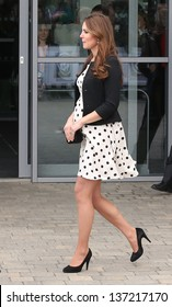Catherine Duchess of Cambridge attending the Inauguration of Warner Bros. Studios. 26/04/2013