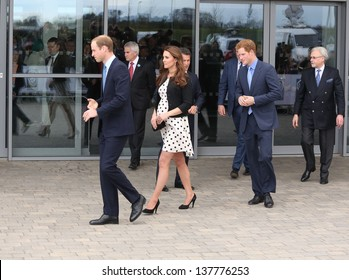 Catherine Duchess of Cambridge, HRH Prince William and HRH Prince Harry attending the Inauguration of Warner Bros. Studios. 26/04/2013