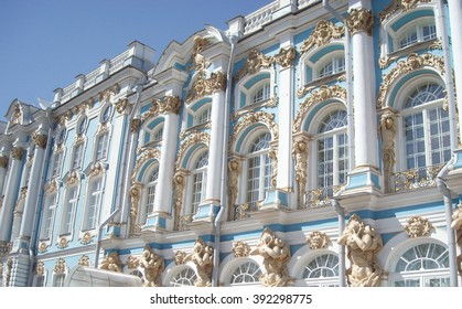 Catherine Palace columns in the park