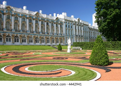 Catherine Palace is the Rococo summer residence of the Russian tsars, located in the town of Tsarskoye Selo (Pushkin), 25 km south-east of St. Petersburg, Russia.