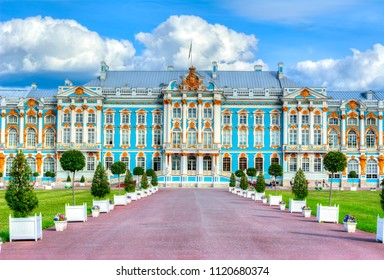 Catherine palace in Tsarskoe Selo, Pushkin, St. Petersburg, Russia