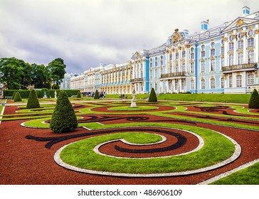 The Catherine Palace in Tsarskoye Selo, St. Petersburg, Russia
