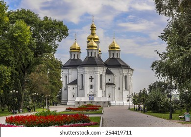 Catherine's Church (early 18th century) in Chernihiv. ?ity Chernihiv on Desna River - capital of Chernihiv region in Northern Ukraine. Chernihiv is one of oldest cities of Kievan Rus (907).