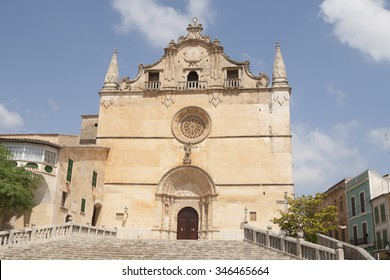 Catholic cathedral in Felanitx, small town on Mallorca island, Spain