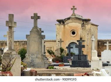 Catholic cemetery of Alcudia (Majorca - Balearic Islands)