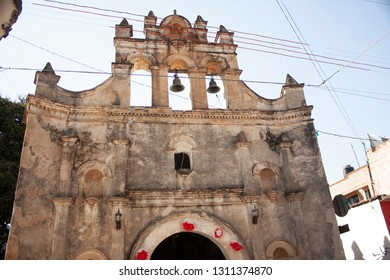 Catholic chapel in magical village in a state of Mexico main tourist and religious attraction