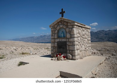 Catholic chapel near Pag, Croatia