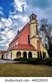Catholic church with a belfry in Poznan