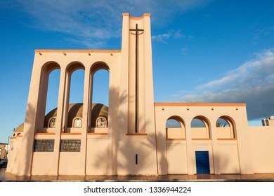 Catholic Church in Dakhla. Dakhla, Western Sahara, Morocco.