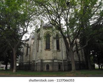 Catholic church Eglise Notre Dame de Chateauroux, Chateauroux, France. Detail.
