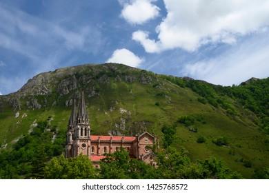 Catholic church located in Covadonga, Cangas de Onís, Asturias, Spain, designated as basilica on September 11, 1901.