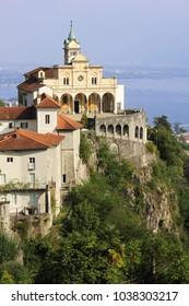 Catholic Church of Madonna del Sasso above the city of Locarno, Switzerland