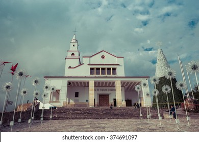 catholic church on the top of the mountain, bogota, colombia, latin america