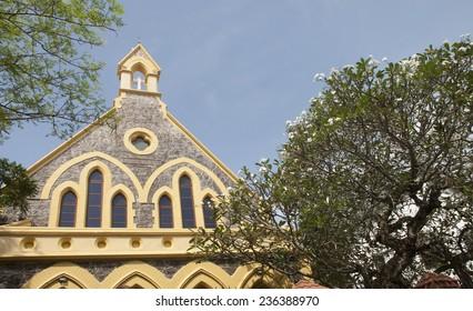 The Catholic Church on a tropical island. Sri Lanka Fort Gale