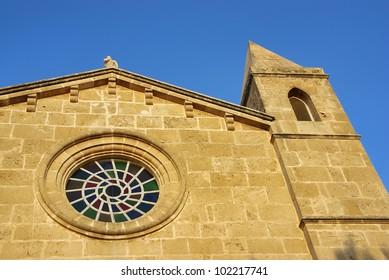 Catholic church in Porto Colom (Majorca - Balearic Islands - Spain)