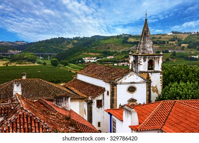 Catholic church, Portugal, rural town Obidos