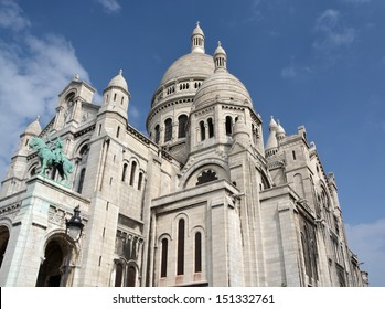 The Catholic church of Sacre Coeur at the top of  Monmatre Paris France.