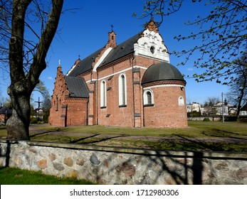 the Catholic church of Saint Andrew the Apostle, ordained in 1560 in the town of brok in Mazovia in Poland - Shutterstock ID 1712980306