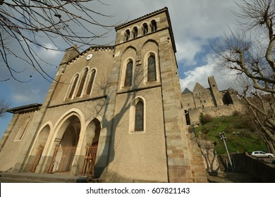 Catholic church Saint Gimer in Carcassonne, Aude, Occitanie in south of France