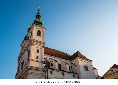 Catholic Church of Saint Michael in Brno called Kostel Svateho Michala in Moravia, Czech Republic - Shutterstock ID 1854278995