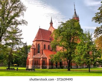 Catholic church of St. Mary the Scapular in Druskininkai, Lithuania.