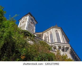Catholic Church, UNESCO World Heritage Site, Hallstatt-Dachstein Salzkammergut Cultural Landscape, Hallstatt, Salzkammergut, Upper Austria, Austria, Europe