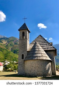 A Catholic Church in the village of Theth in Prokletije in the Acursed Mountains of Albania. The community is at the centre of the Theth National Park, an area of outstanding natural beauty.