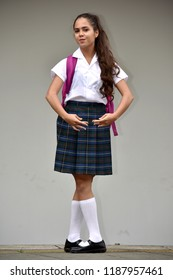 Catholic Colombian Student Teenager Dancing Wearing Uniform