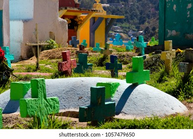 Catholic and Colorful cemetery in Chichicastenango, Guatemala, Middle America