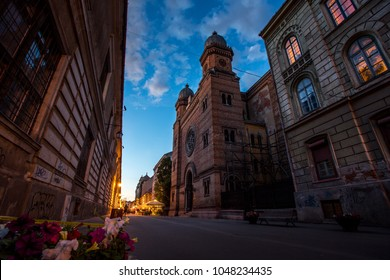 Catholic Dome blue hour photo Timisoara Romania