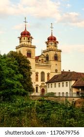Catholic Monastery, Rheinau, Switzerland at the sunset hours (HDR version)