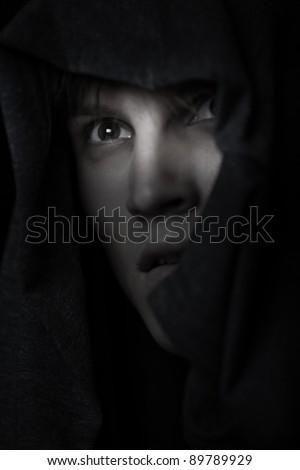 Catholic monk in religious
