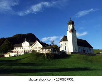 Catholic parish church of St. Martin or Kirche St. Martin, Schwende - Canton of Appenzell Innerrhoden (AI), Switzerland