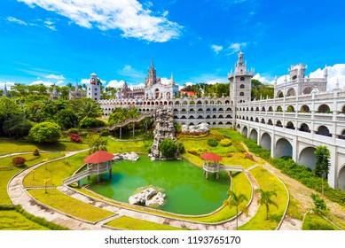 The Catholic Simala Shrine in Sibonga, Cebu, Philippines. Copy space for text