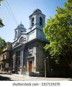 Catholic temple Santa Corazon in capital of Uruguay. Montevideo, Uruguay, South America