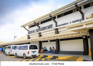 Caticlan airport near Boracay Island on Nov 17, 2017 in the Philippines.