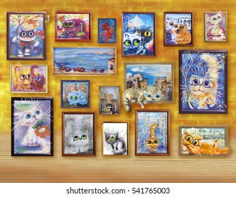 Cats' pictures exhibition