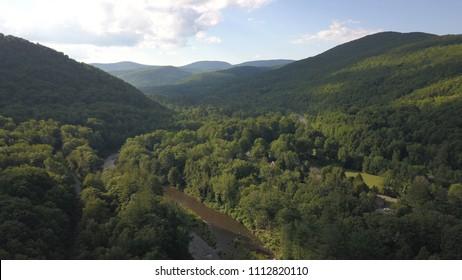 Catskill Mountains around Phoenicia, NY