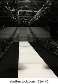 A Catwalk before the show. London Fashion Week ( Podium in LFW Tent)