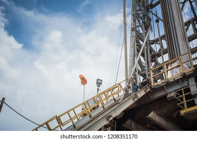 Catwalk in drilling rig.