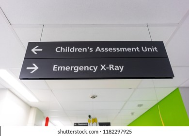 The CAU, Children's assessment unit and Emergency X-Ray screening room at the NHS Hospital of North Staffs