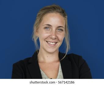 Caucasian Business Woman Smile Concept