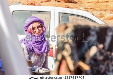 Caucasian girl smiling portrait